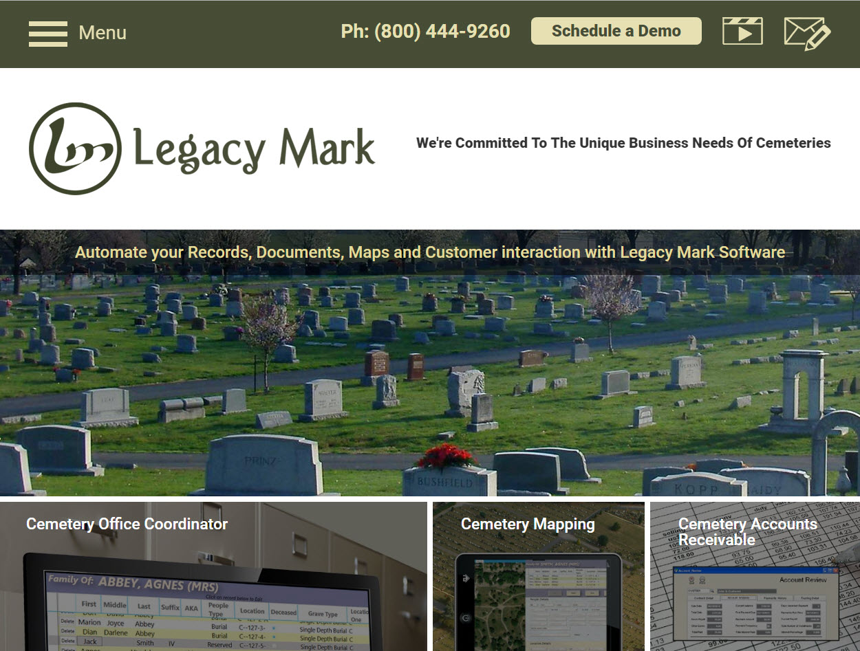 Cemetery Software, Cemetary Software